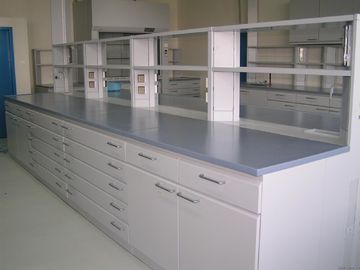China Steel School Lab Furniture , Aluminum Alloy Column Portable Lab Bench supplier