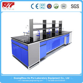 Wall Mount Lab Bench Furniture High Temperature Resistant Free Design