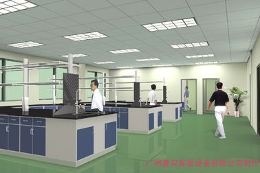 China Rectangular School Science Laboratory Furniture Flexible Steel And Wood supplier