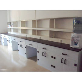 Reagent Shelf Chemistry Lab Tables , Chemical Laboratory Furniture For Schools