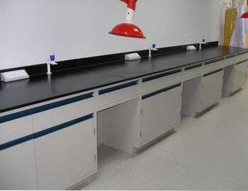 China Movable Cabinet Chemistry Lab Furniture , Chemical Resistant Lab Tables supplier
