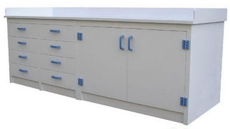 China PP White Chemistry Lab Furniture , Lab Sink Cabinet Long Life Span supplier