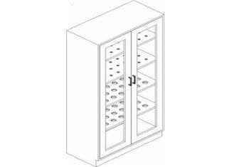 Professional Glass Door Lab Storage Cabinets For Schools / Institutions