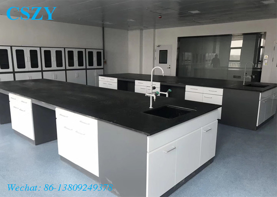 Laboratory furniture lab table island wrok bench with sink table