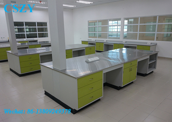 Full Steel School Lab Furniture Student Chemistry Lab Bench with Cabinet