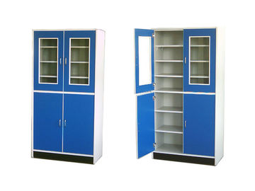 Alloy handle Wood Stainless Steel Lab Cabinets Water Tray Corrosion Resistance