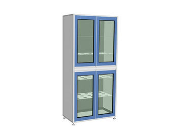 Custom Lab Storage Cabinets , Steel Storage Cabinets Aluminium Handle